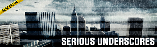 Serious Underscores Dark Drama music collection from ALIBI production music for news, documentaries, crime shows, film, television, podcasts, youtube, video games