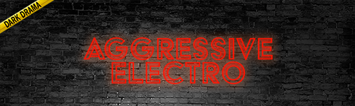 Aggressive Electronic Dark Drama music collection from ALIBI for film, television, video games, news, crime shows, documentaries, podcasts, video games, twitch